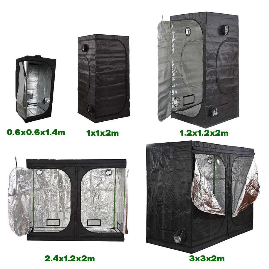 Premium 90cm x 60cm x 60cm 600D Silver Mylar Propogation Grow Tent Hydroponics