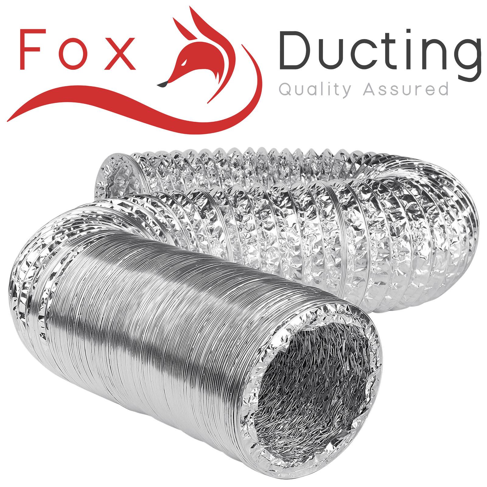 "150MM FLEXIBLE FOIL DUCTING  5M METER FOX HYDROPONIC GROW ALUMINIUM  6/"" INCH"