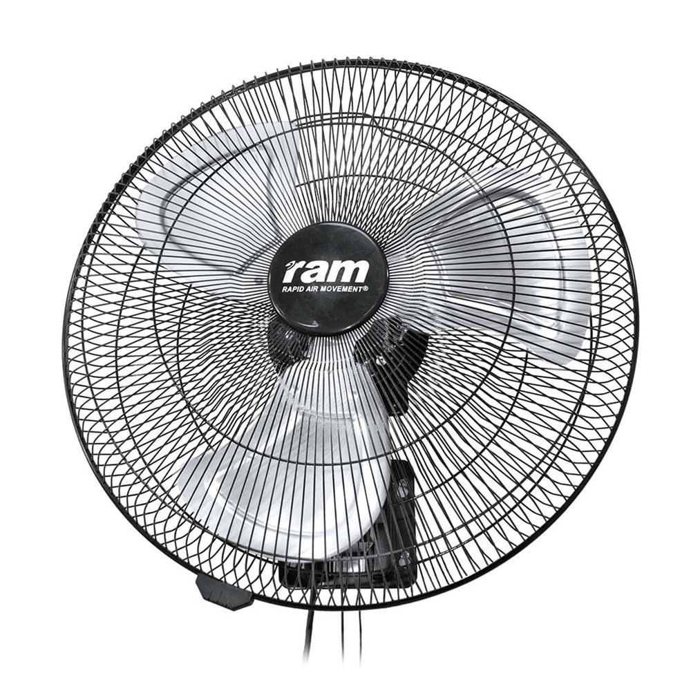 450mm 3 Speed Heavy Duty Oscillating Wall Fan Hydroponics RAM 18-Inch