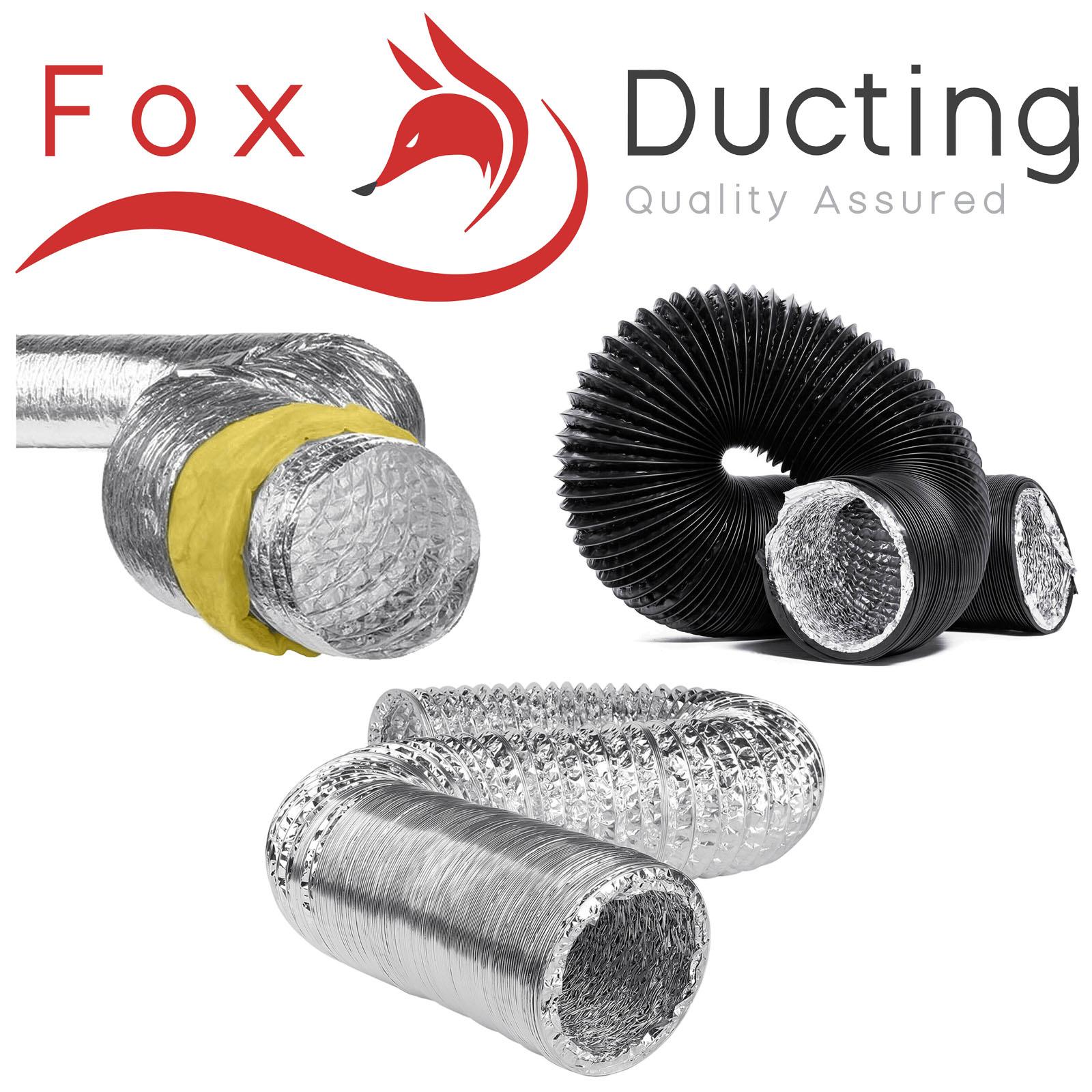 "Hydroponics Black Acoustic Ducting 10/"" Inch 250mm x 5m Ventilation Growing Room"