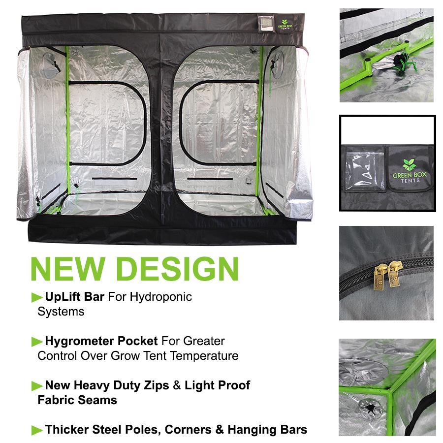 Hydroponic NEW DESIGN Green Box Grow Tent 200 x 200 x 200cm Grow Room Gardening