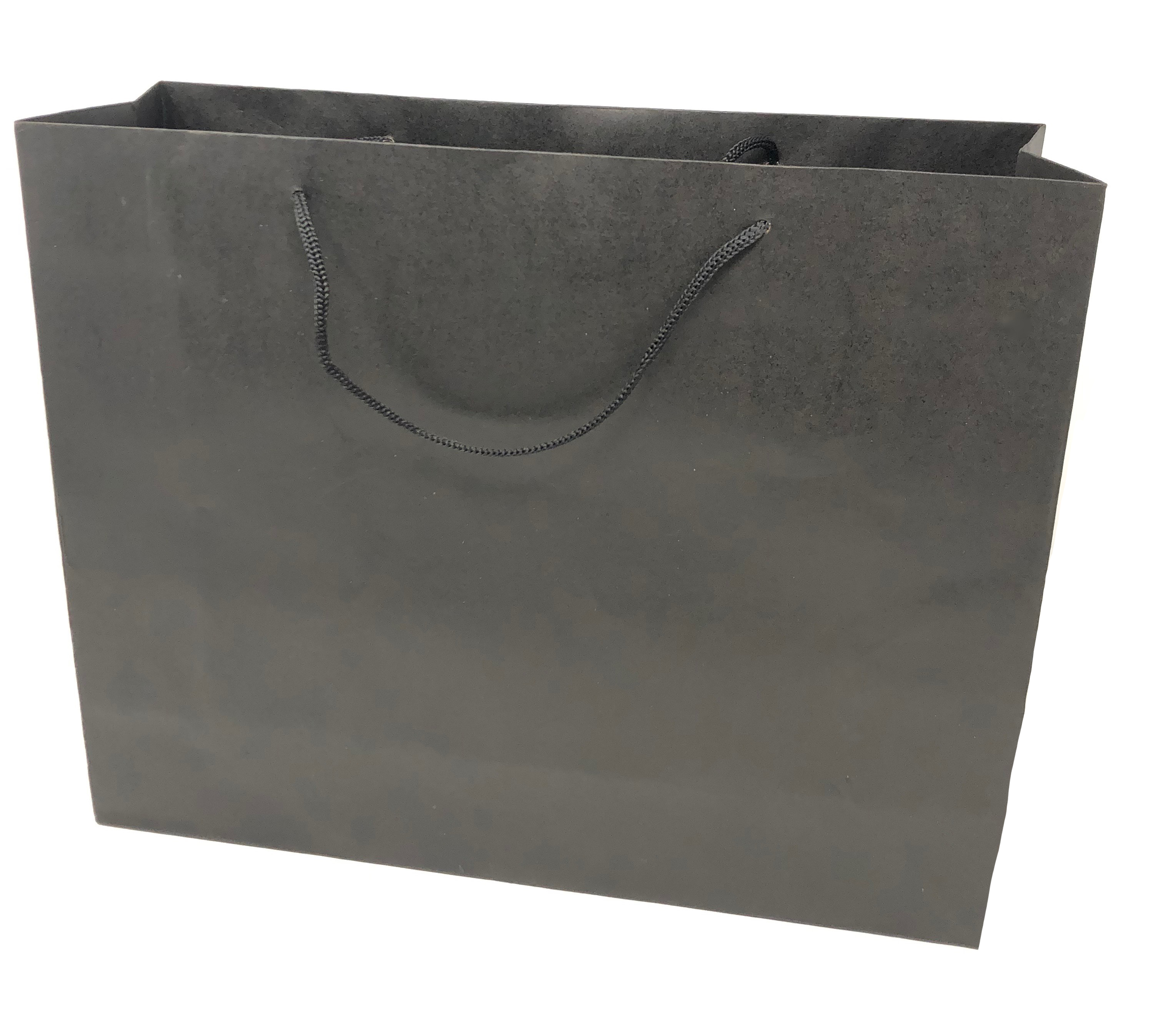 12 Pack Gift Bags Corded Handles Black Silver Wholesale