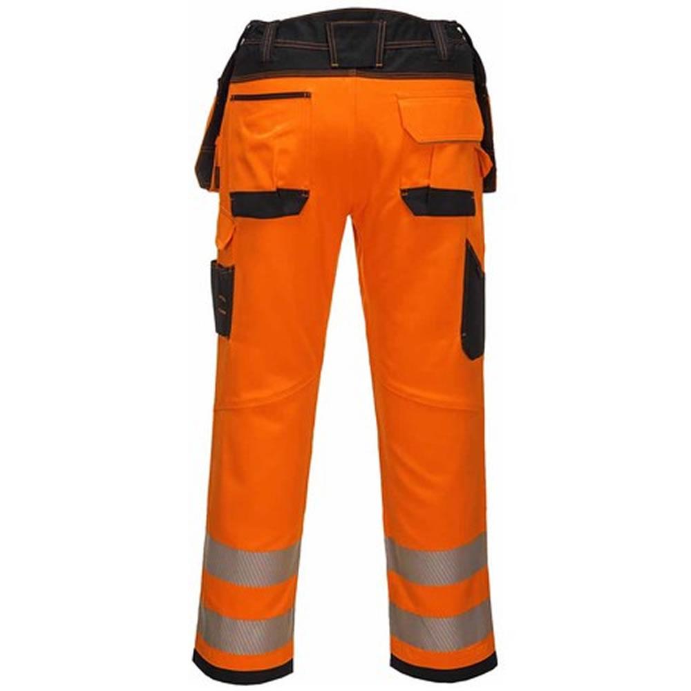 Portwest-Hi-Vis-Viz-Pantalones-De-Seguridad-Bolsillos-De-Trabajo-Funda-Para-hombre-libre-de-la miniatura 3