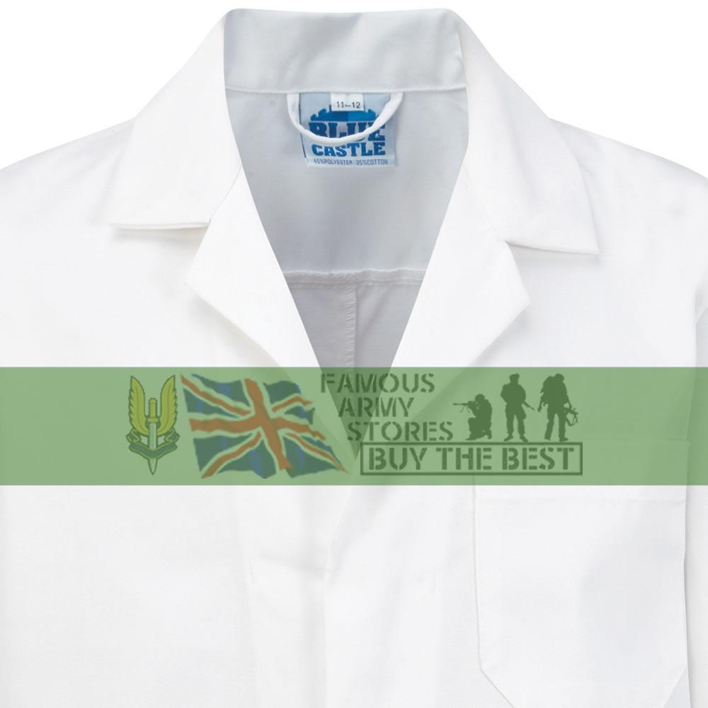Kids Lab Coat Science Boys Girls Childrens Work School Doctor Scientist White