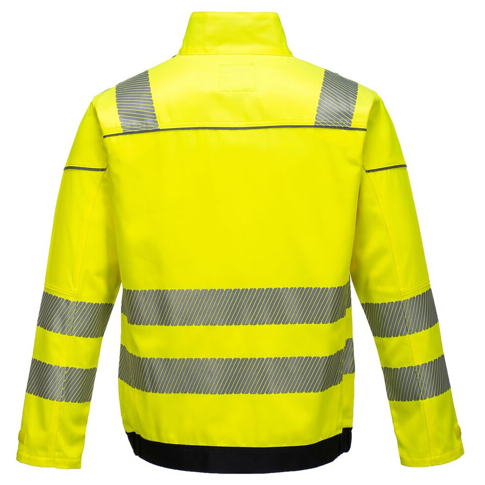 Portwest-Vision-Hi-Viz-Tex-Pro-Mens-Safety-Jacket-Twin-Stitched-Seams-Ezee-Zip miniatura 7