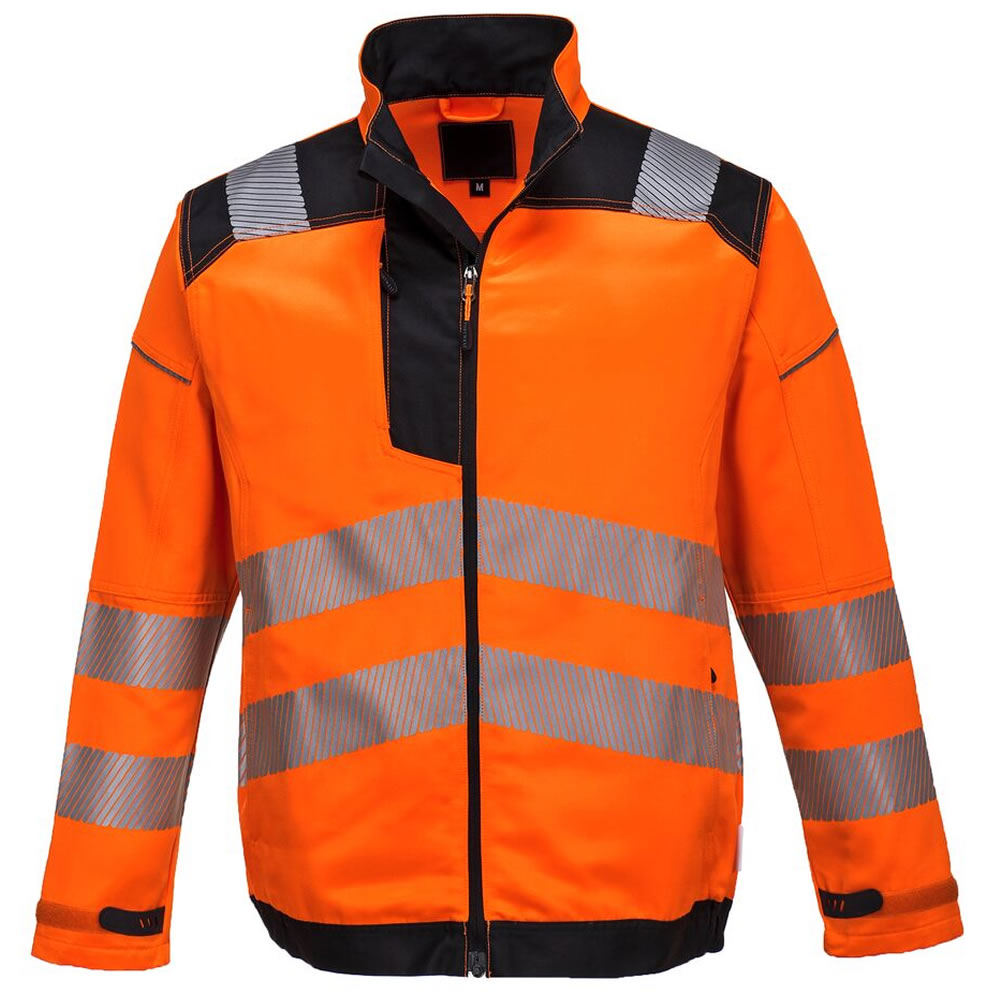 Portwest-Vision-Hi-Viz-Tex-Pro-Mens-Safety-Jacket-Twin-Stitched-Seams-Ezee-Zip miniatura 4