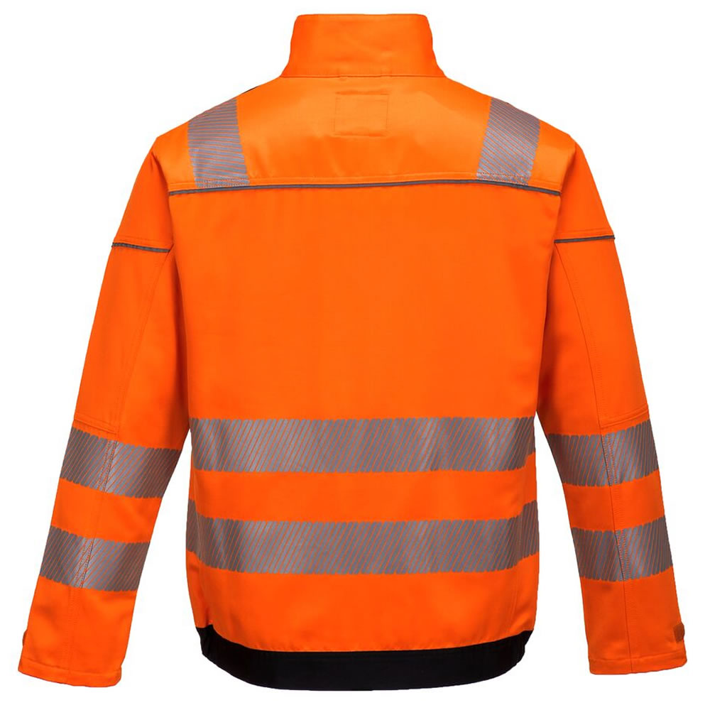 Portwest-Vision-Hi-Viz-Tex-Pro-Mens-Safety-Jacket-Twin-Stitched-Seams-Ezee-Zip miniatura 5
