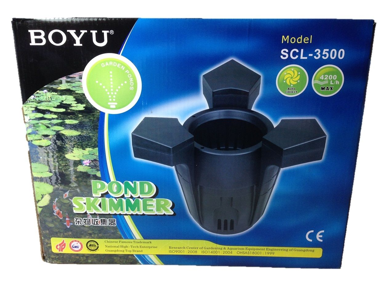 Boyu fish pond floating surface skimmer koi skim filter for Koi pond skimmer design