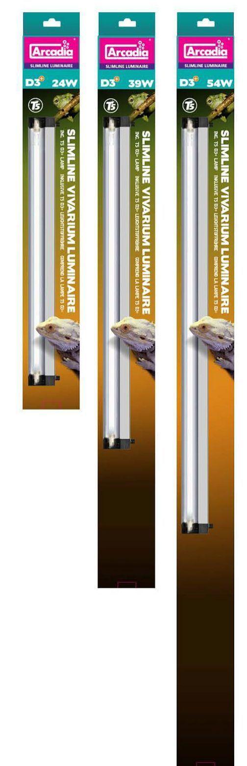 Arcadia Slim Line Reptile Vivarium Luminaire D3 T5 Lamp