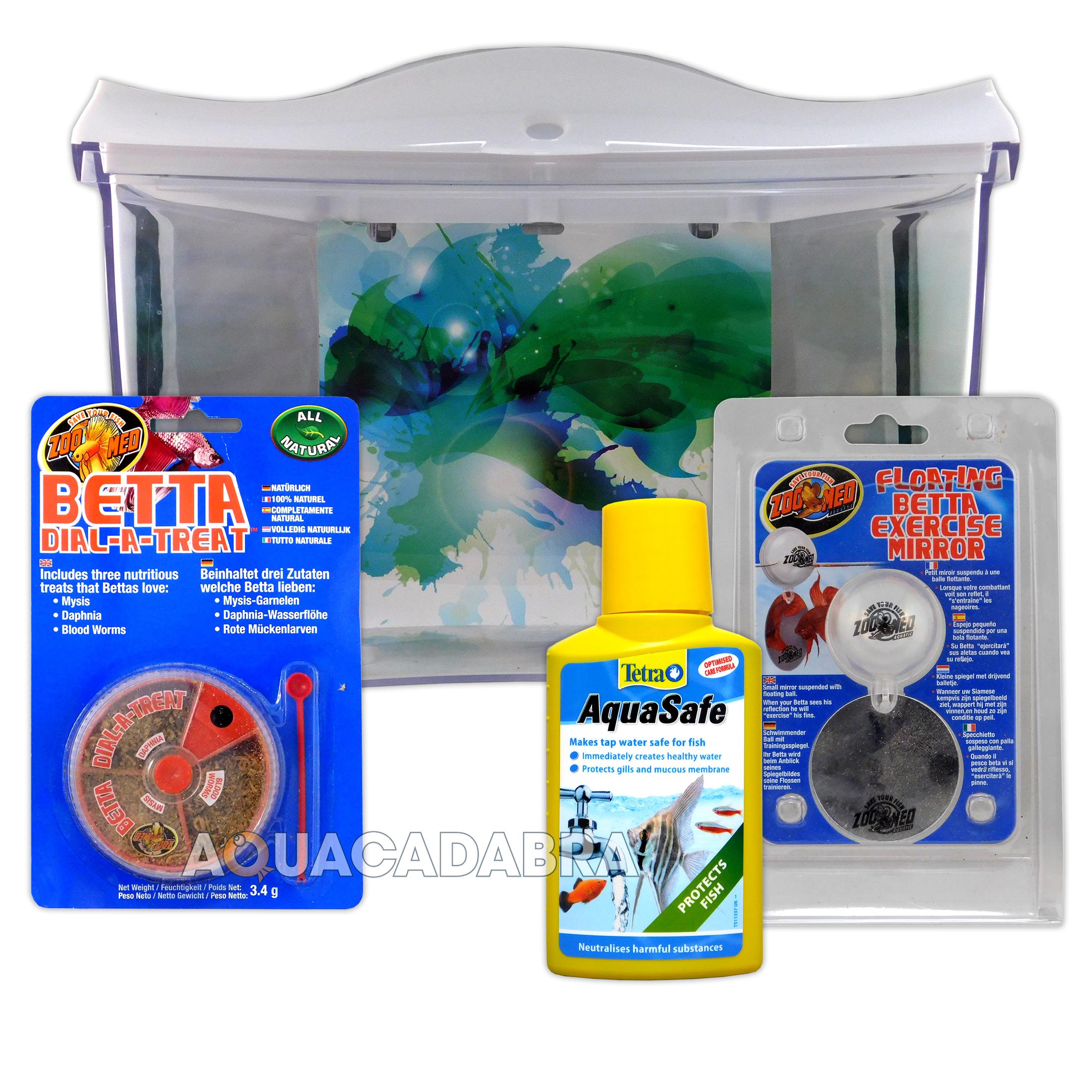 Complete siamese fighter starter betta aquarium kit tank for Fish tank kits