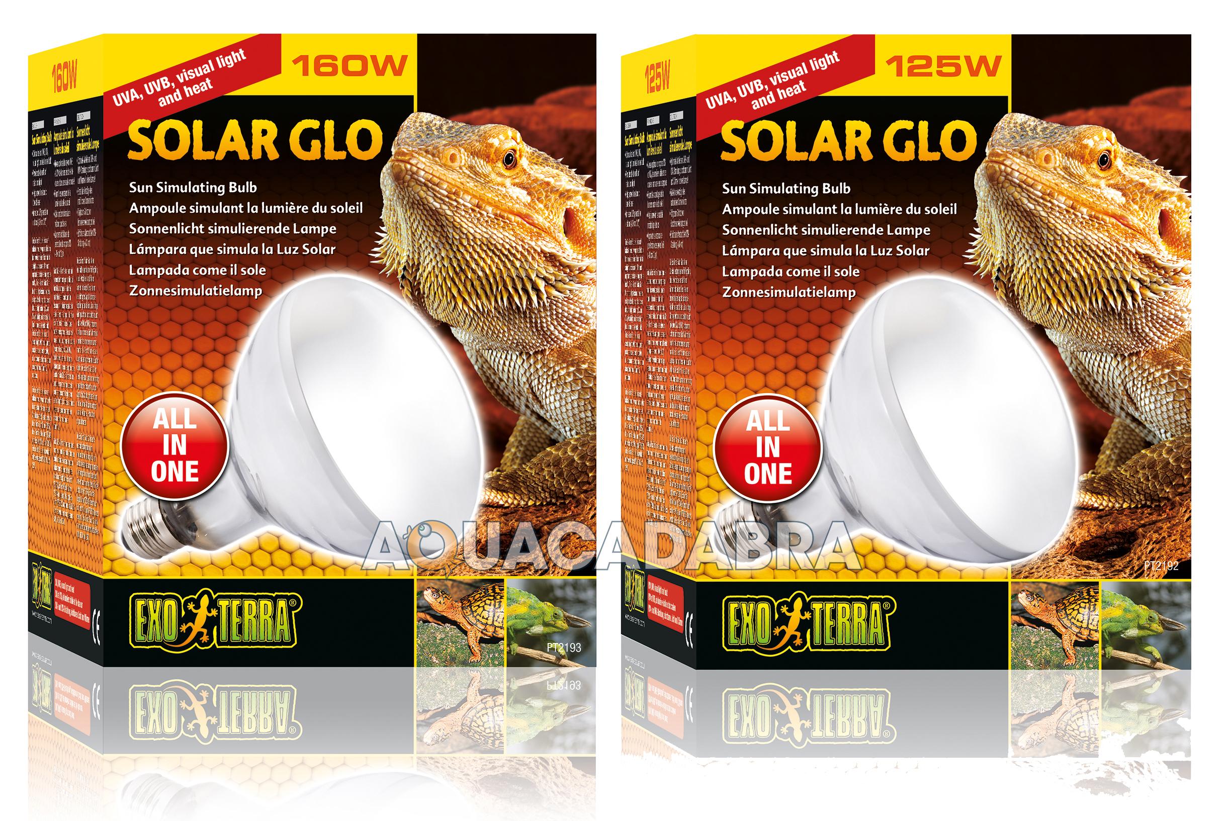 exo terra solar glo bulb 80w 125w 160w reptile vivarium lizard heat lamp basking ebay. Black Bedroom Furniture Sets. Home Design Ideas
