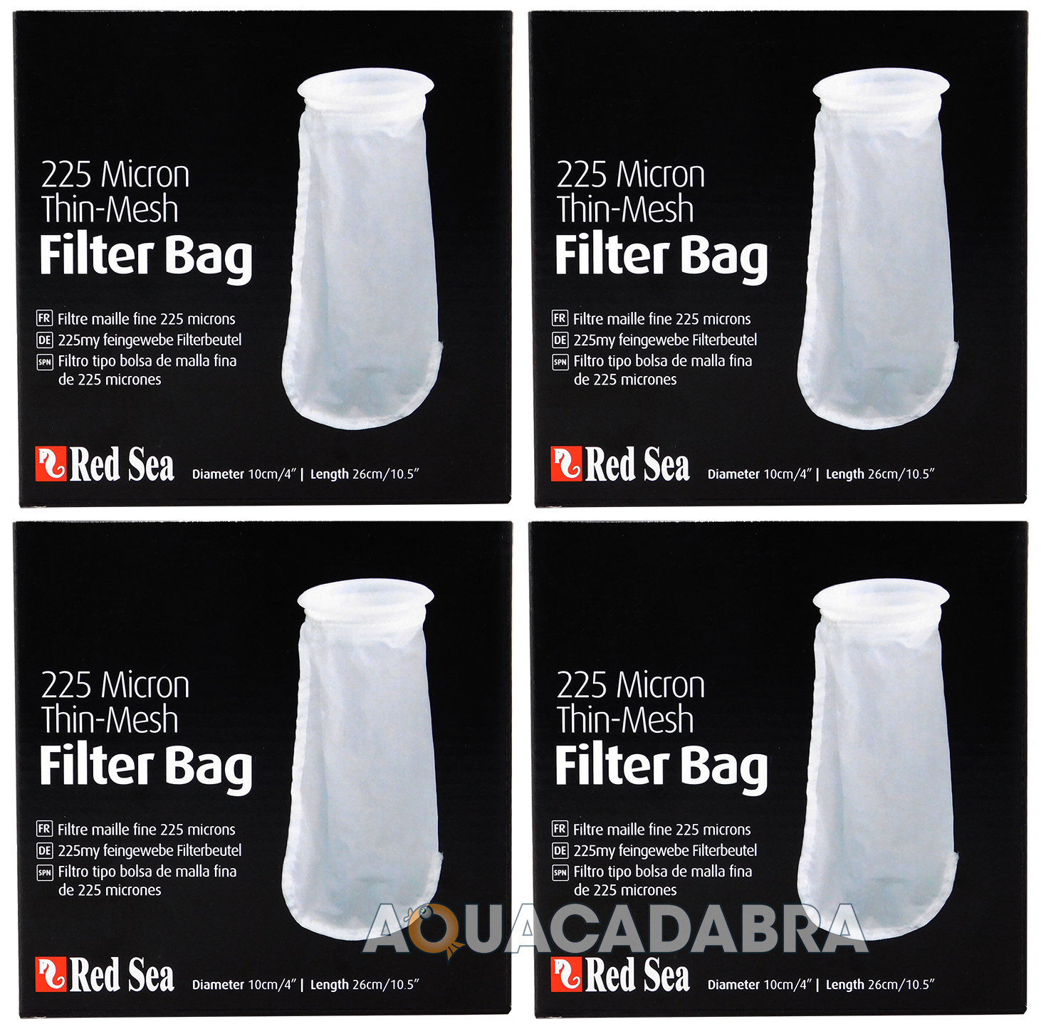 RED SEA 225 MICRON THIN MESH REPLACEMENT FILTER BAG REEFER FISH TANK