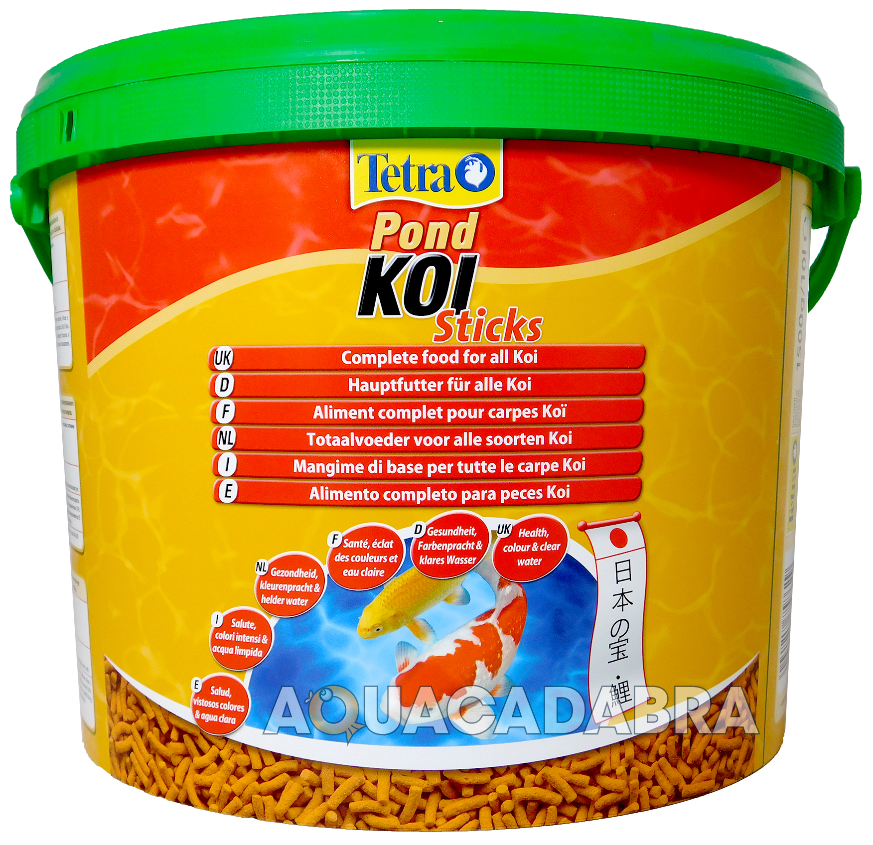 Tetra pond koi fish food sticks 1500g 10l bucket floating for Koi pond sticks