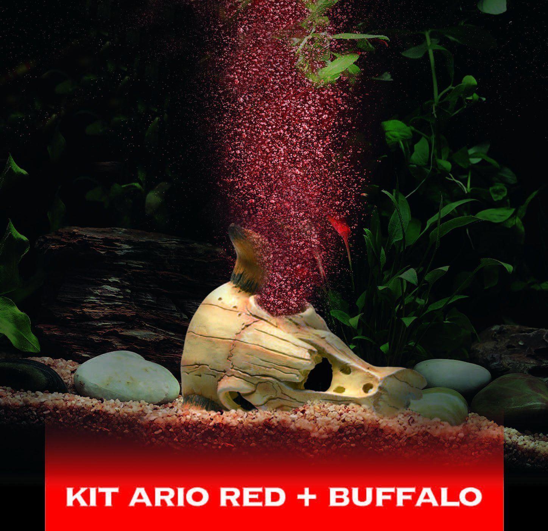 Hydor Ario - Buffalo Red Deco Aeration Bubble Maker LED Light ...