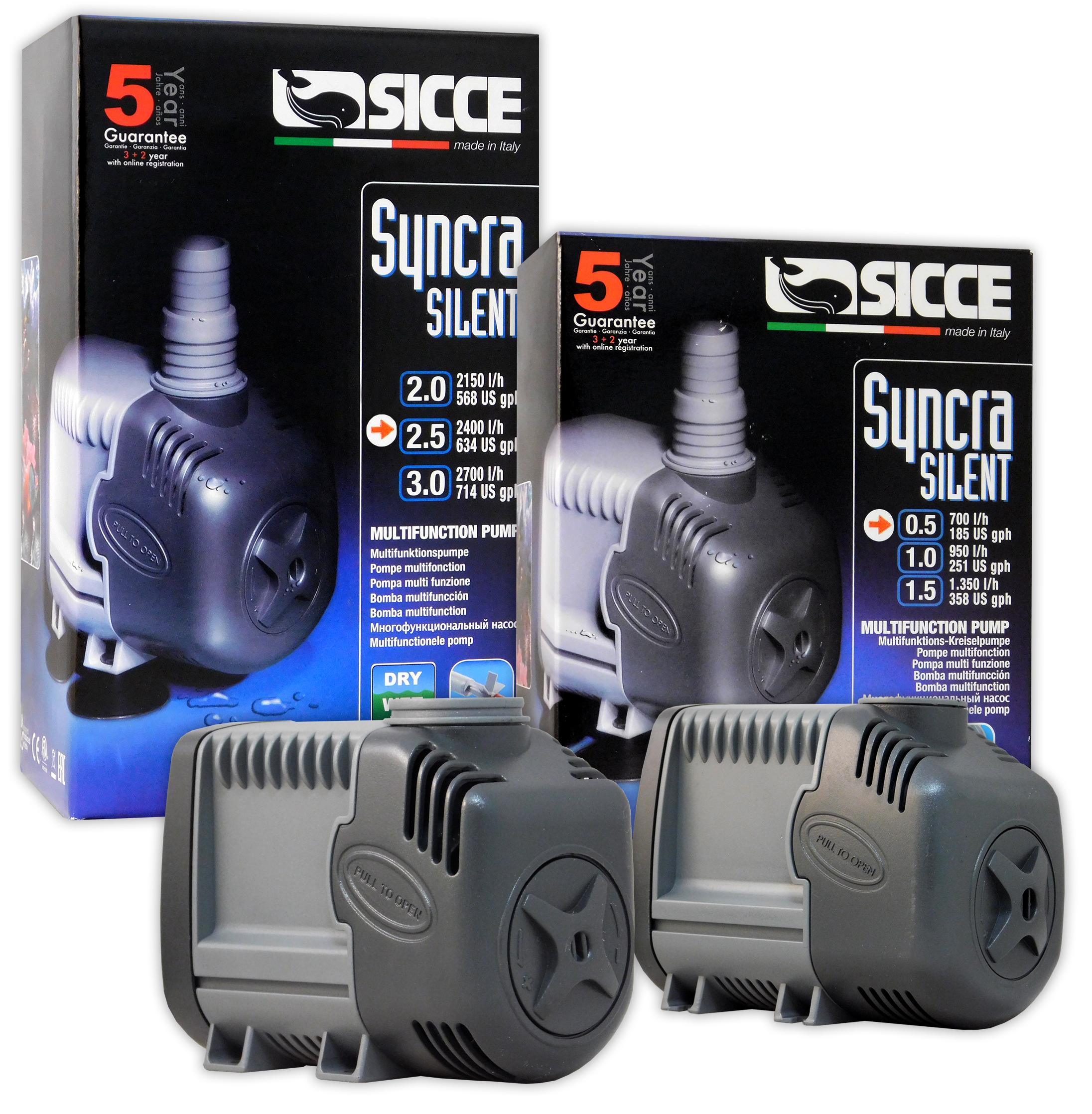 sicce syncra silent 20 pump 568 gph reef supplies t
