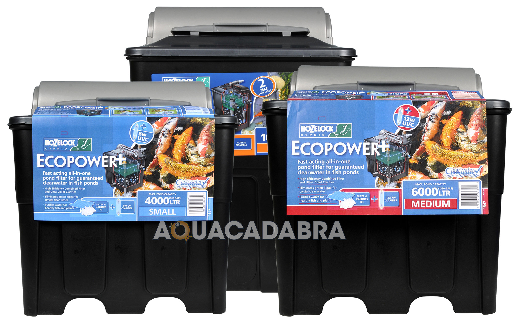 Hozelock Ecopower Pond Filter Uv Uvc Water Filtration