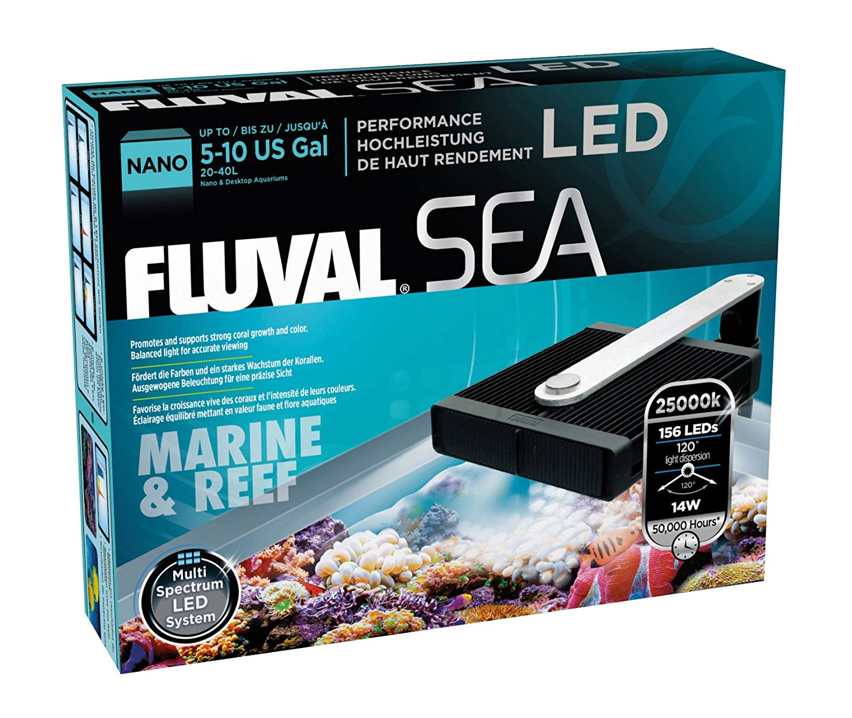 Fluval Sea Nano Led Light Unit 14w For Aquariums 20 40l