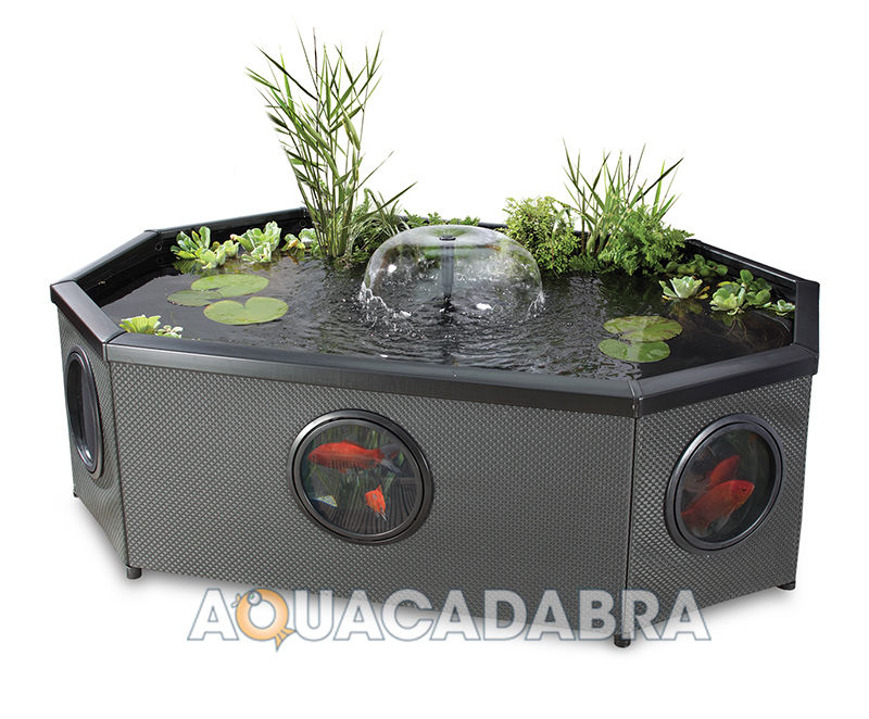 Blagdon affinity grand oval mocha weave pool with fountain for Gartenteich skimmer