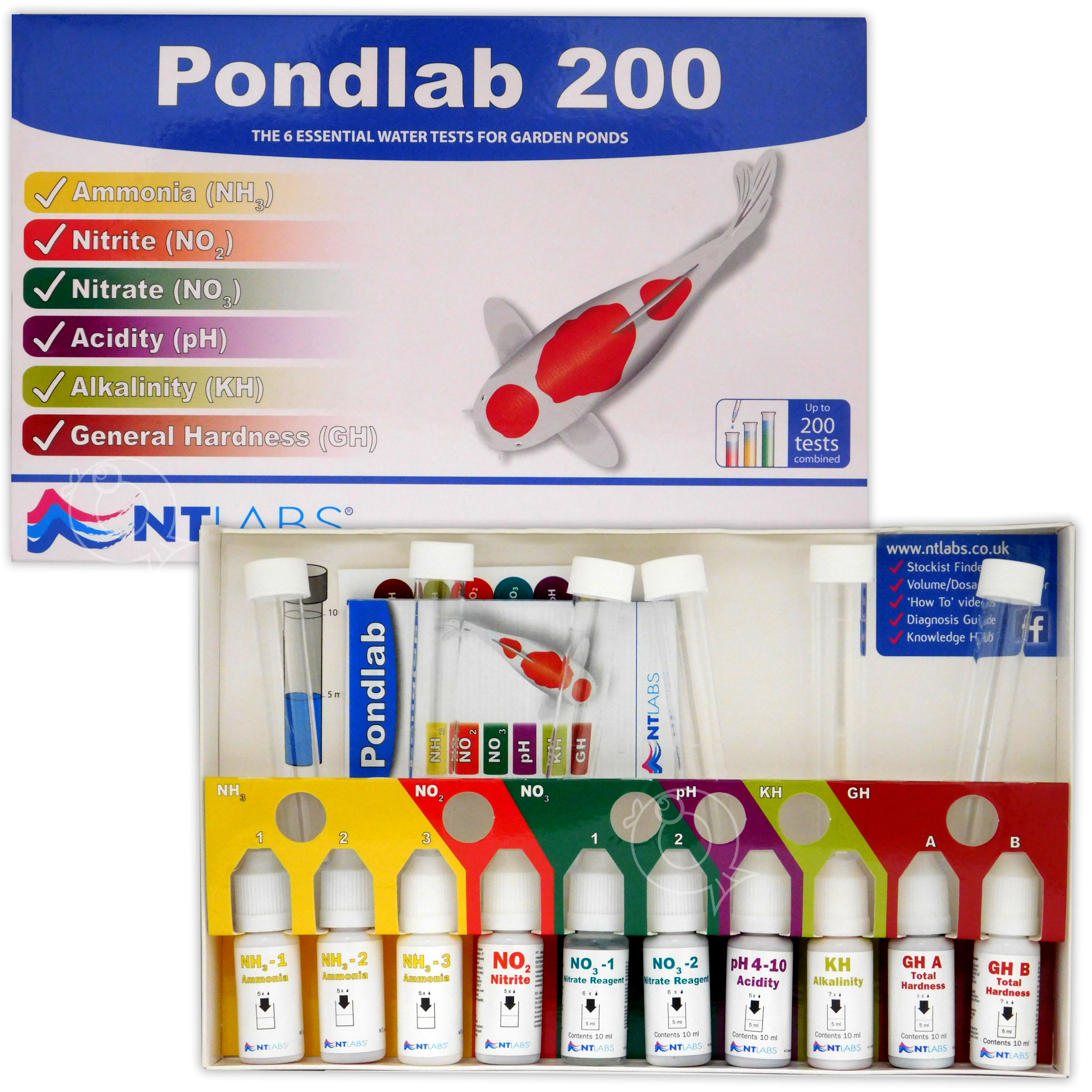 Details about NT LABS PONDLAB 200 MULTI-TEST KIT MASTER POND LAB WATER  TESTING SET PH GARDEN