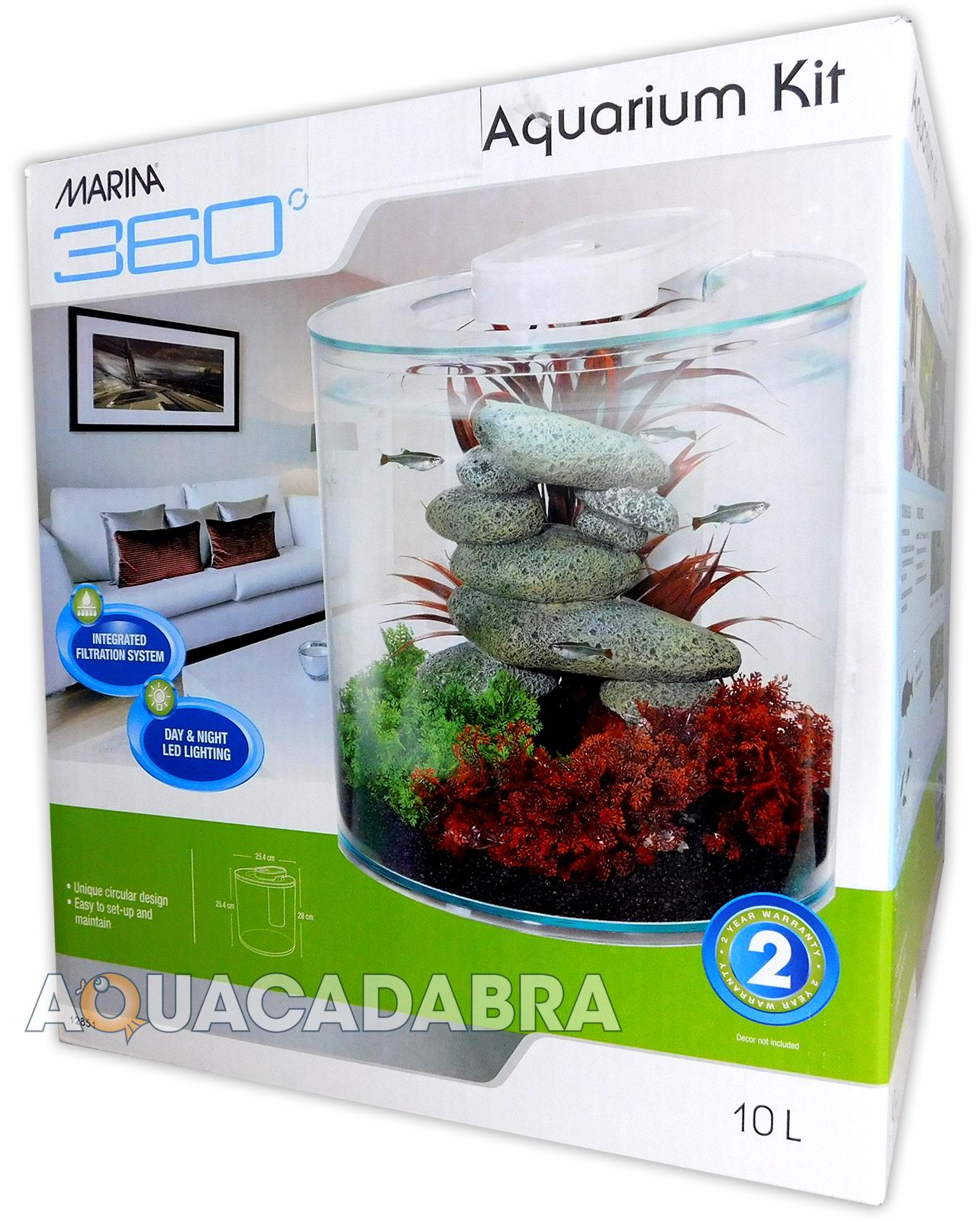 marina 360 aquarium kit fish tank gallons 10 litres. Black Bedroom Furniture Sets. Home Design Ideas