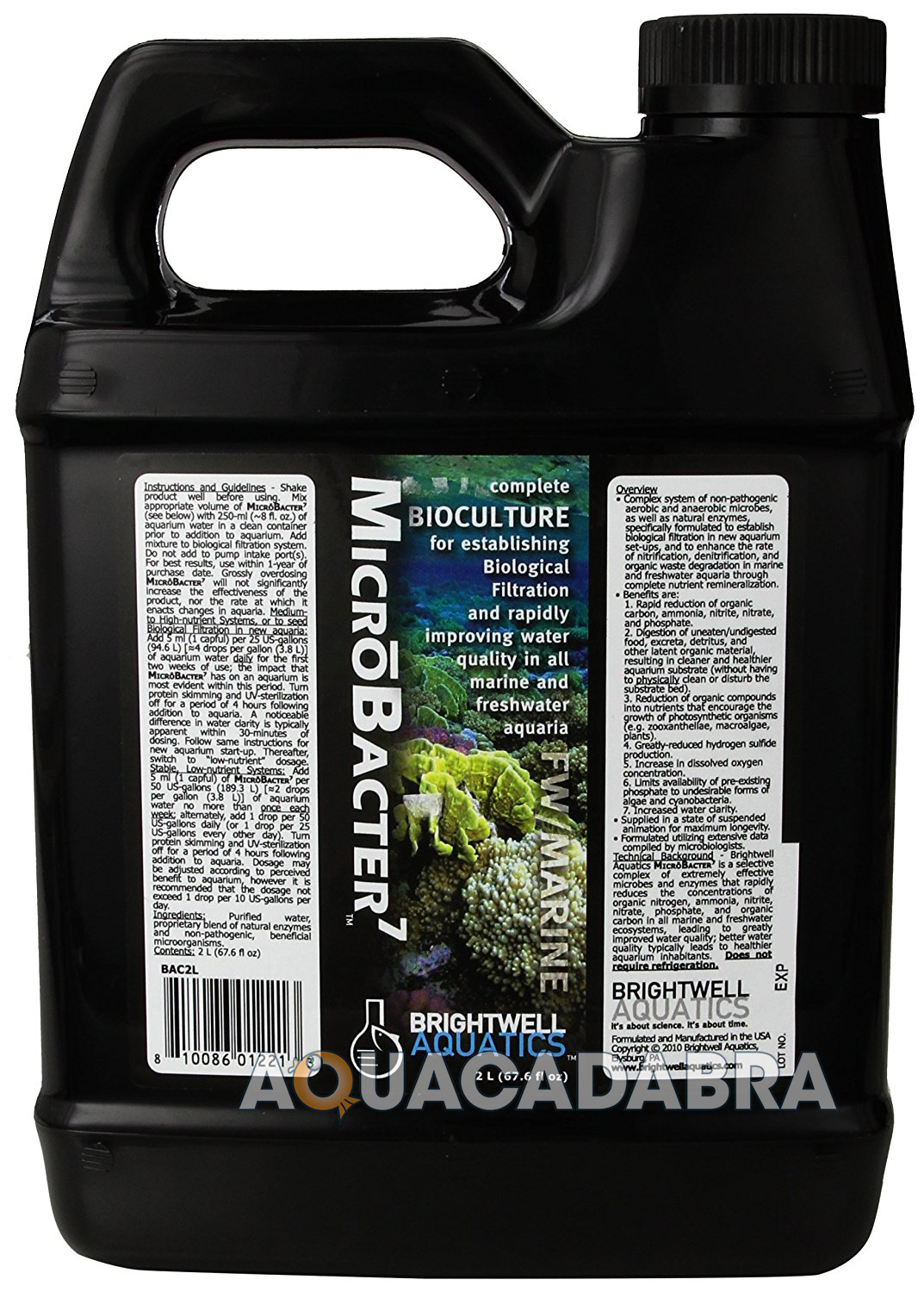 Brightwell Microbacter 7 Bioculture Bio Filtration Water