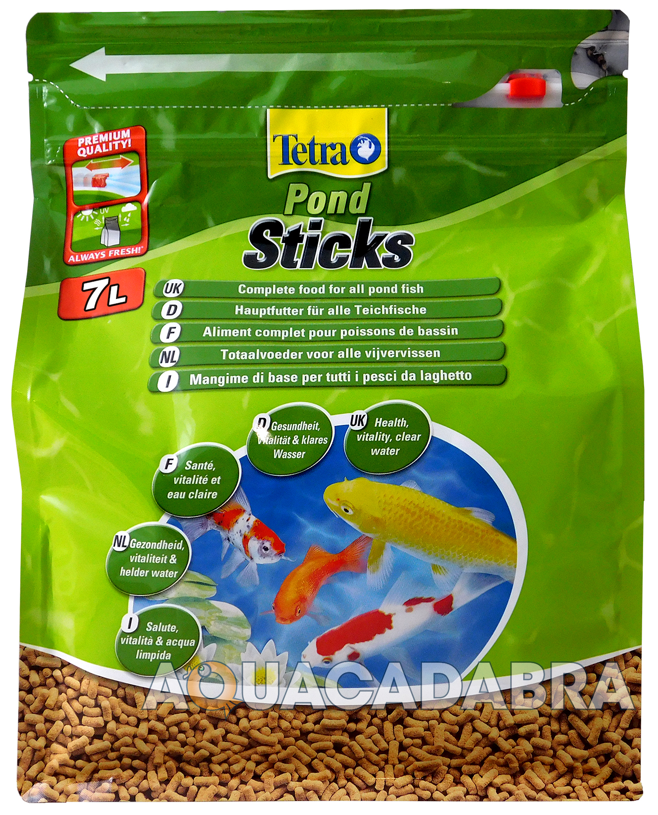 Tetrapond tetra pond floating food sticks 780g 7l fish for Koi pond sticks