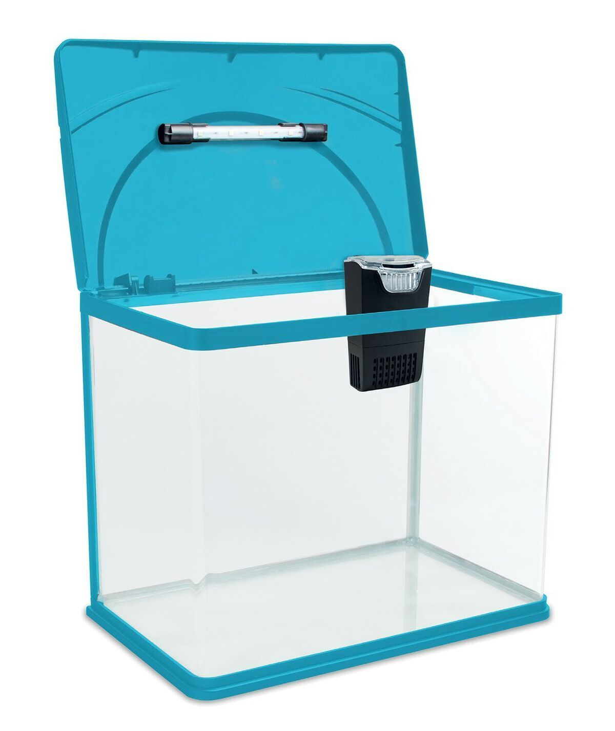 Interpet Fish Box Aquarium Blue 13l 20l With Cf Mini