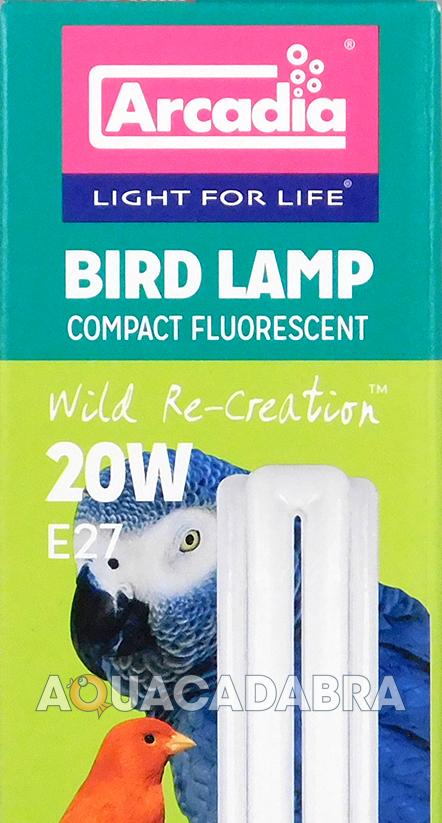 Arcadia Bird Lamp Compact Fluorescent 20w E27 Light Bulb 2