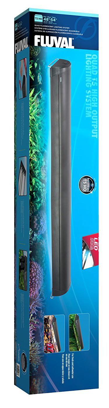 Fluval-T5-Quad-Light-Unit-Fixtures-Aquarium-Lighting-Blue-LED-Night-Light-Tank