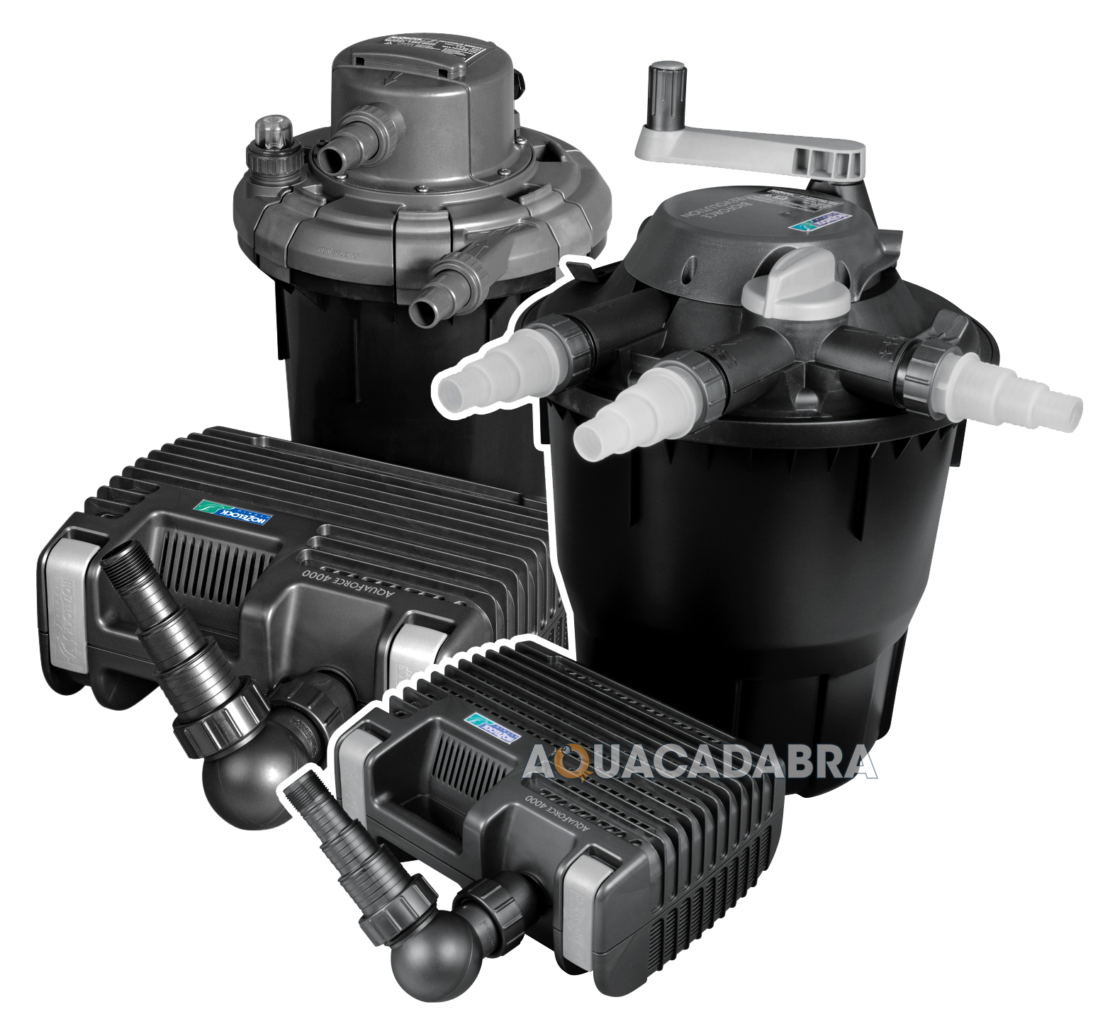 Hozelock bioforce revolution aquaforce kit pressure filter for Pond pump and filter combined