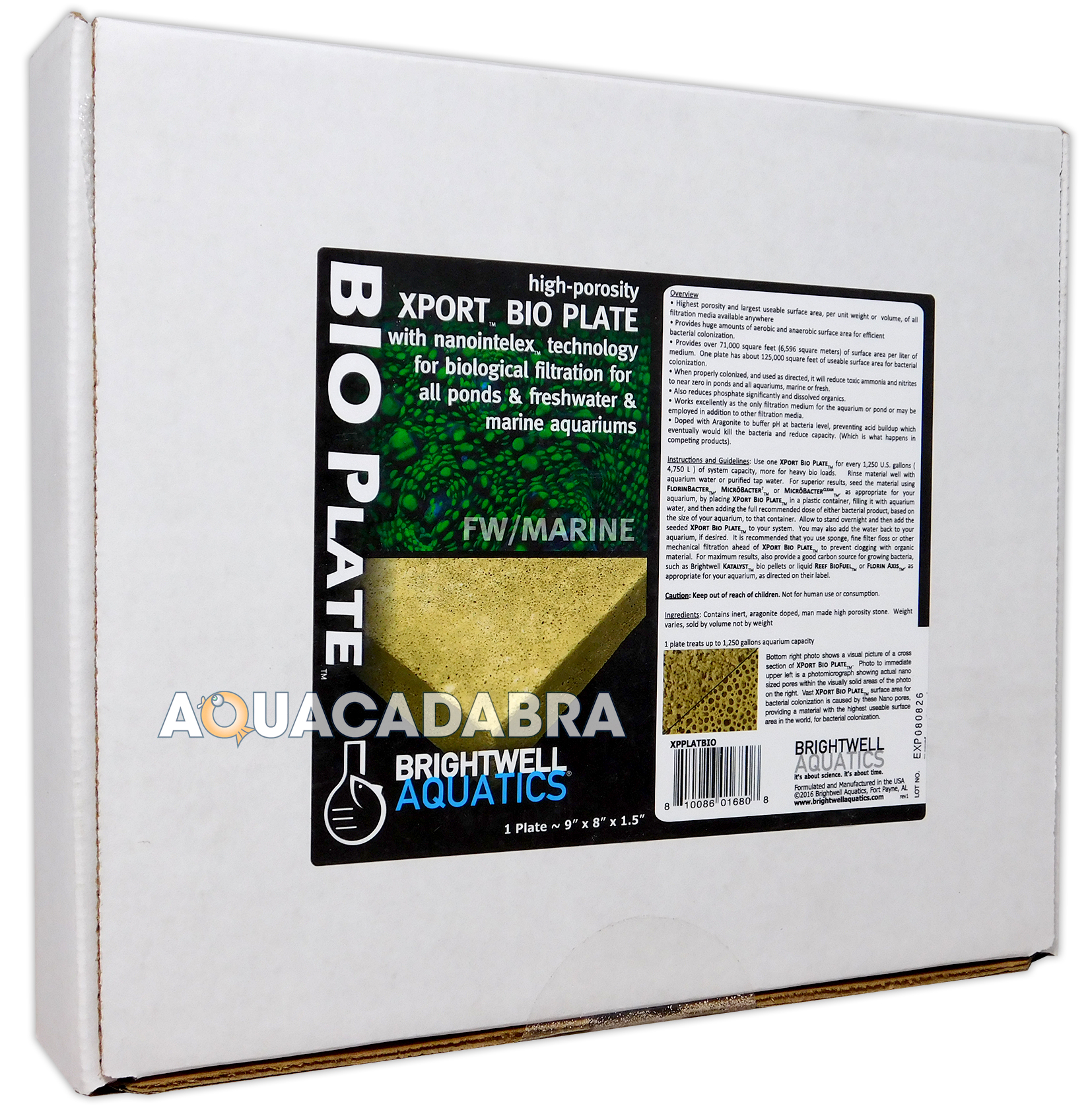 Brightwell xport bio plate biological filter media for for Pond bio filter media