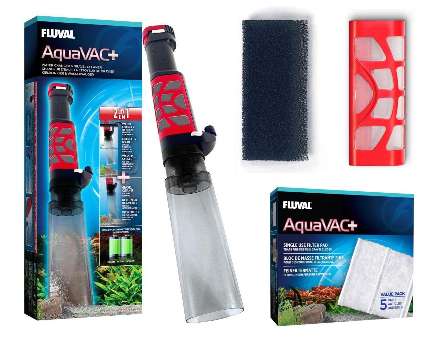 Fluval Aquavac Aquarium Gravel Vacuum Foam Vac Filter