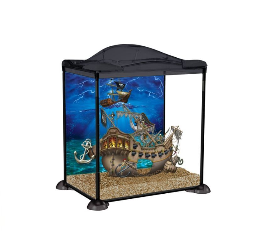 Marina Pirates Boy Kids Child Aquarium Glass Fish Tank 17l