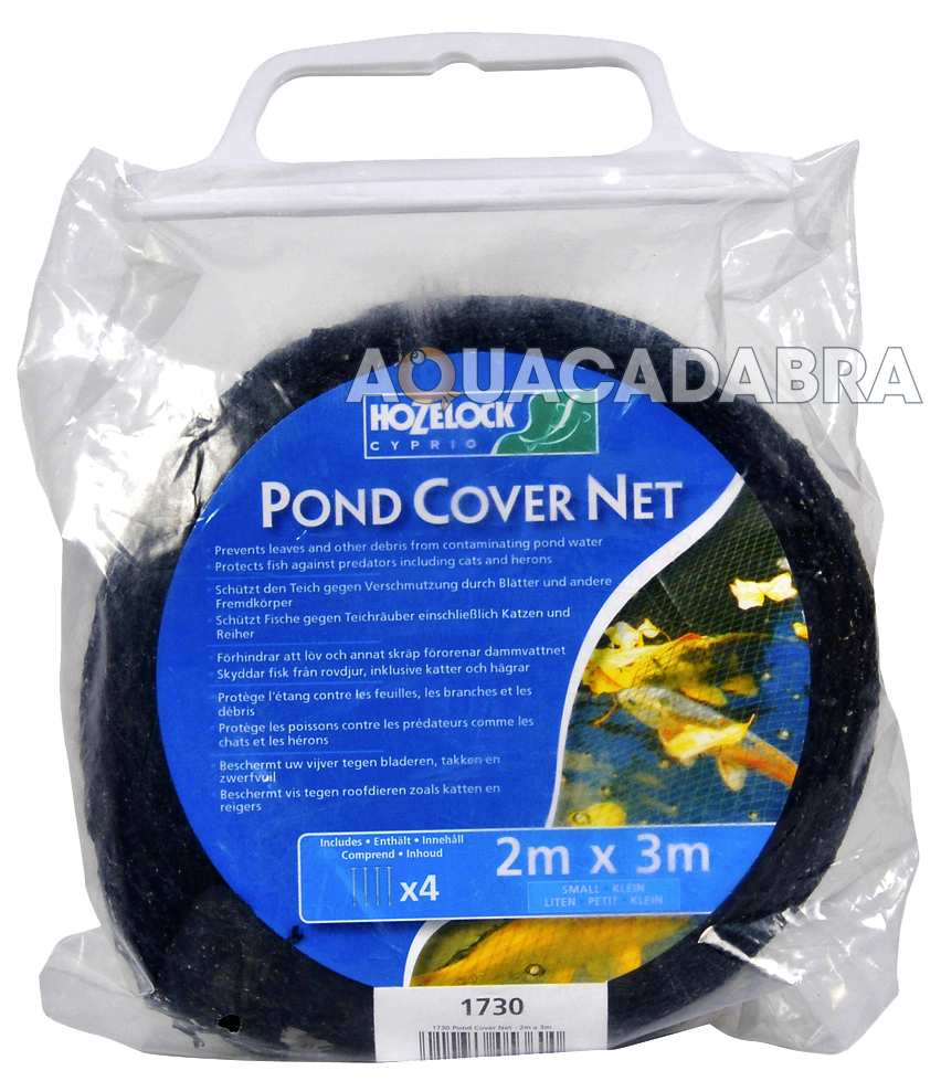 Hozelock fish pond cover net 3mx2m 4mx3m 6mx4m 10mx6m for Koi pond cover