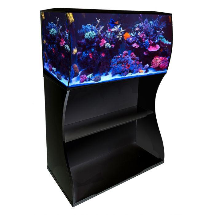 Fluval Flex 123L Marine Black Aquarium / Stand Reef Fish ...