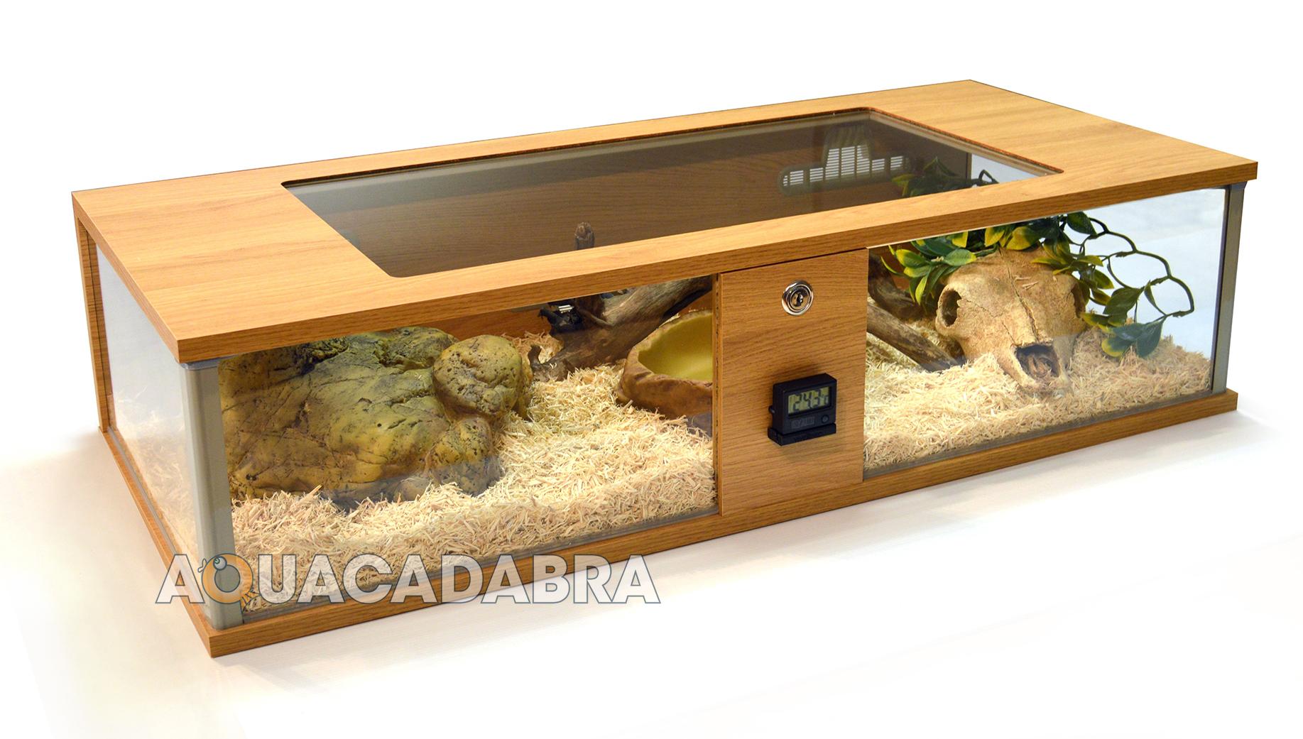 Table Basse Terrarium A Vendre détails sur vivexotic repti-view chêne maxi & normal vivarium reptile de  grands panneaux de verre- afficher le titre d'origine