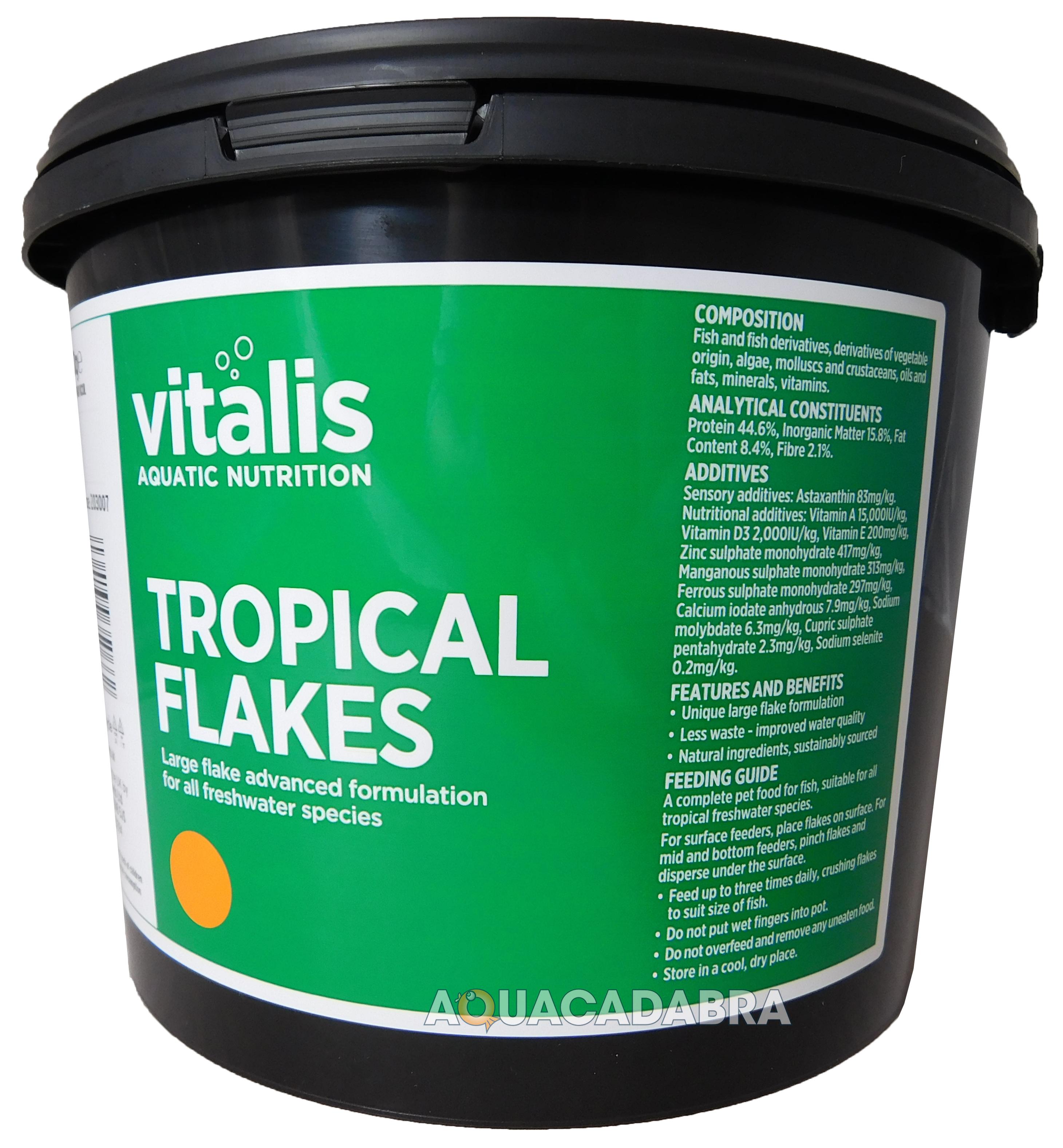 New era vitalis tropical flake fish food freshwater large for Freshwater fish food