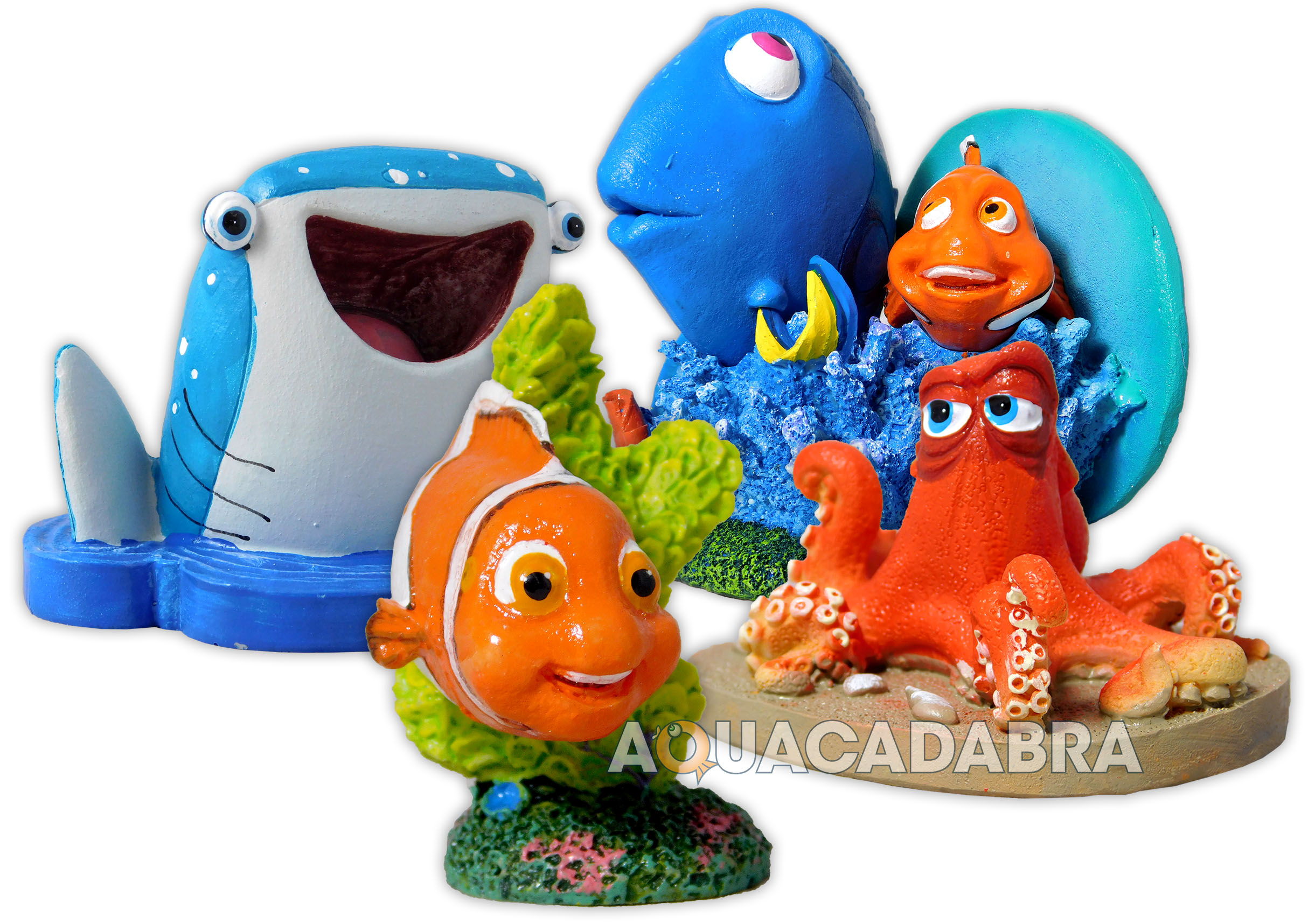 Finding dory aquarium ornaments nemo disney hank destiny for Aquarium decoration ornaments