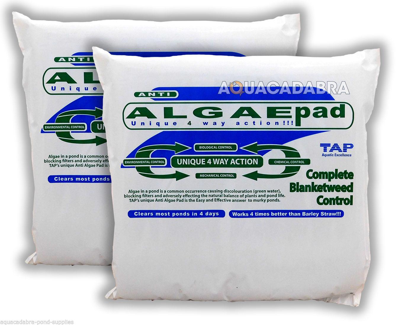 Tap algae pad blanketweed green water remover control for Acqua verde laghetto