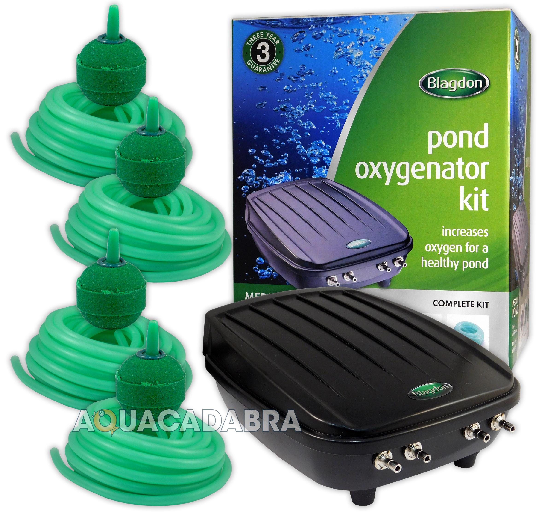 Blagdon pond oxygenator kit air pump air line air stones for Pond oxygenator