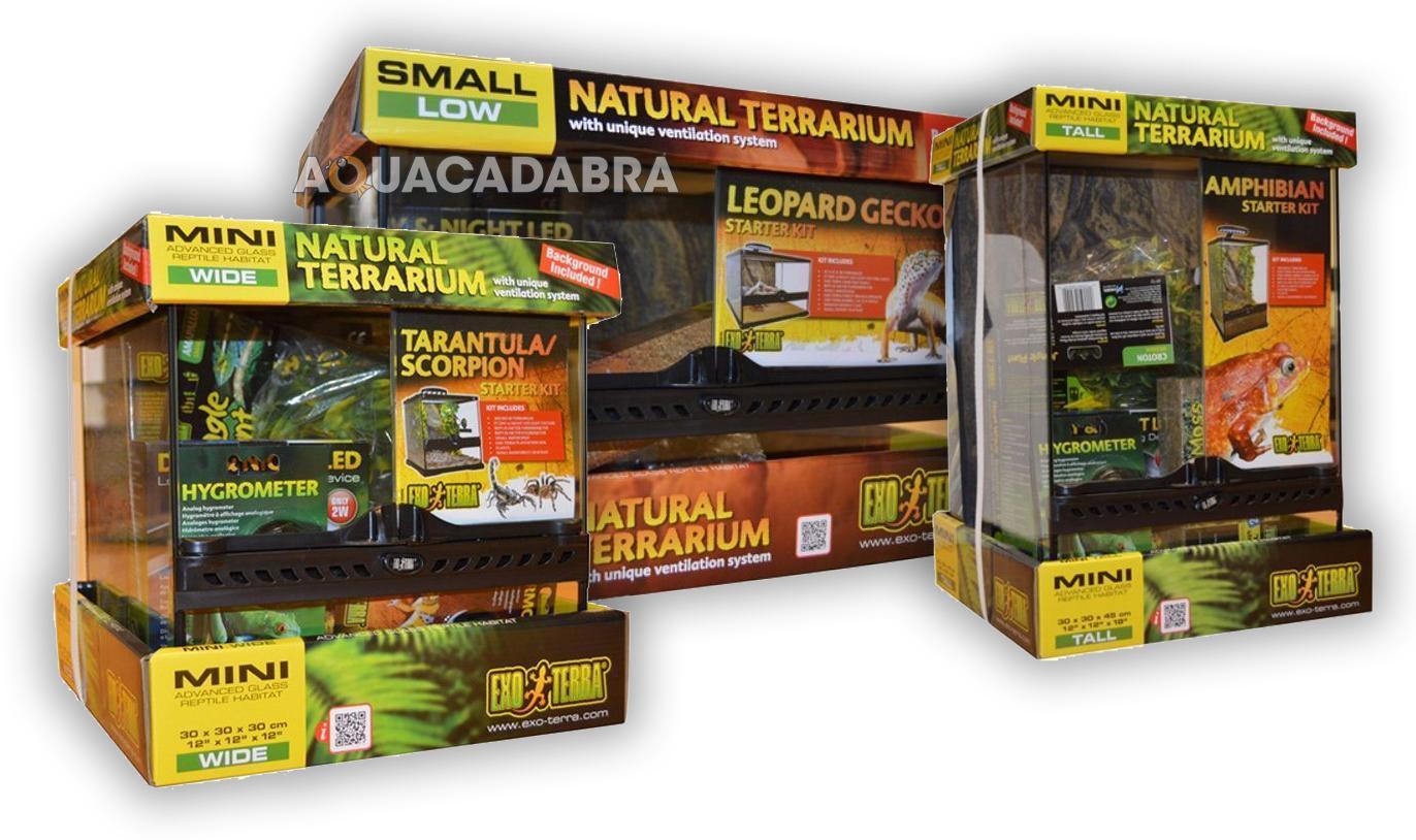 Exo Terra Glass Terrarium Starter Kit Reptile Box Insect Spider Frog