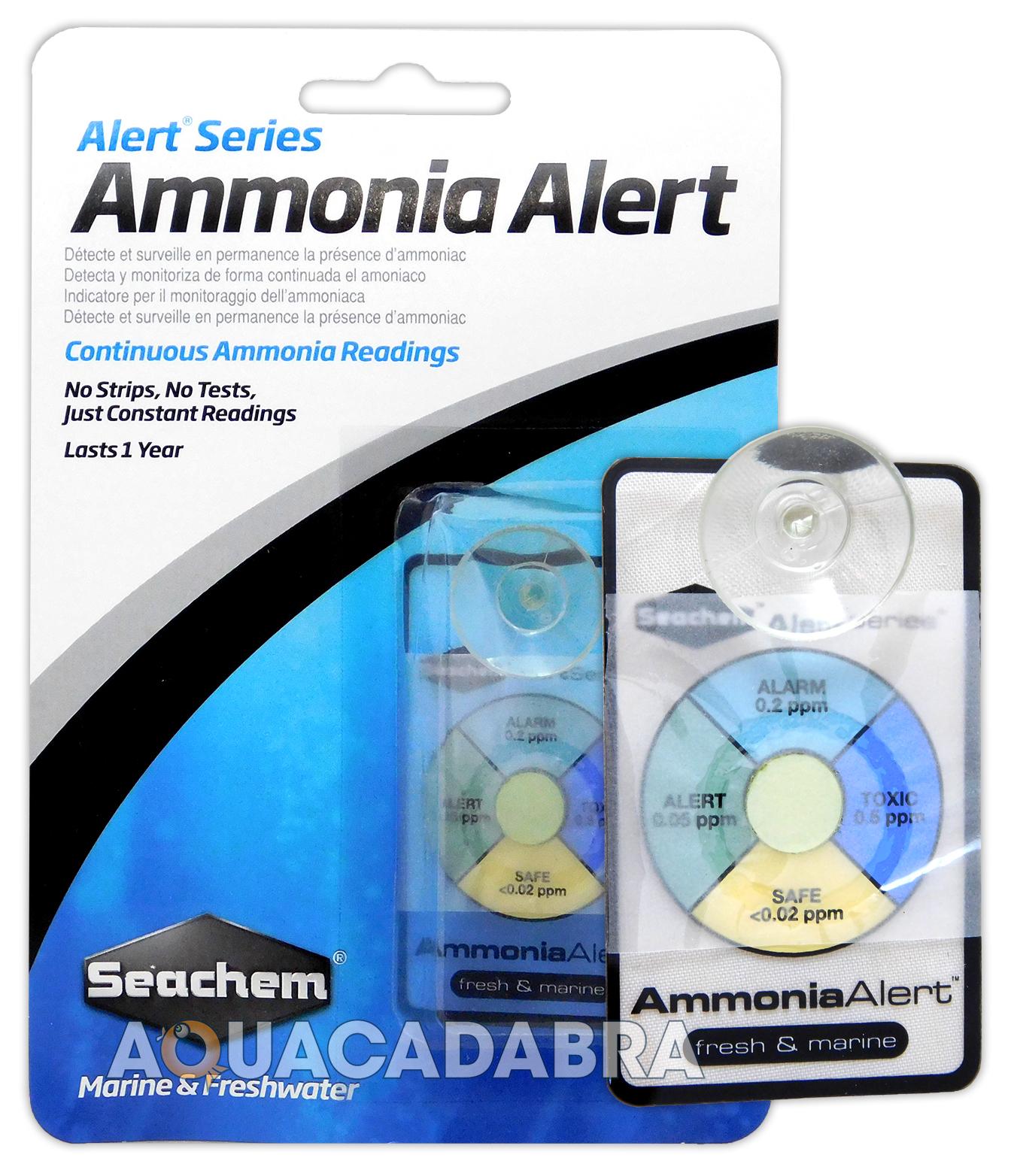 Seachem ammonia alert test kit ammonia monitor marine for Ammonia in fish tank