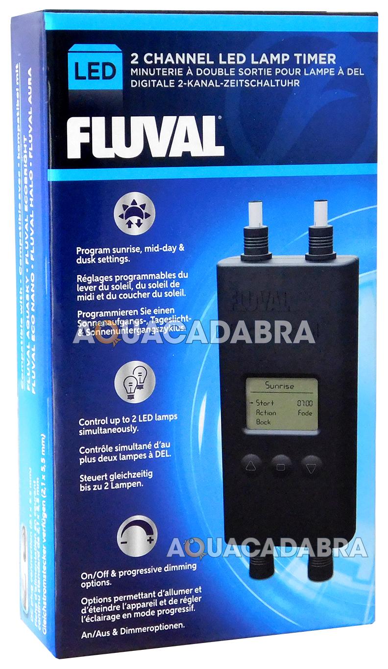 FLUVAL DIGITAL DUAL 2 CHANNEL LED LAMP TIMER ECO BRIGHT AQUASKY ...