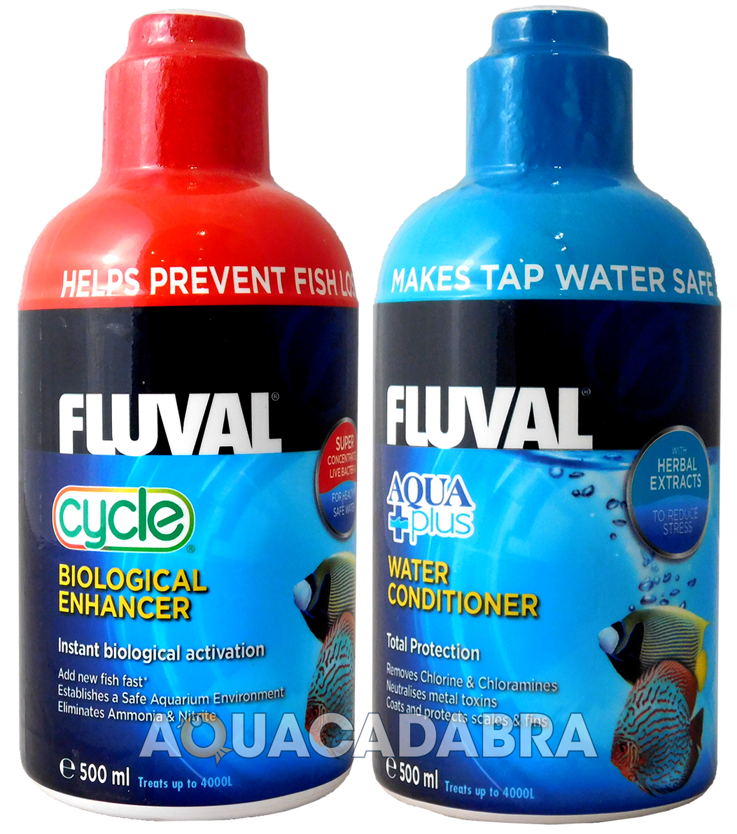 Fluval aquaplus cycle biological water conditioner fish for Fish tank water conditioner