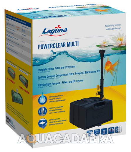 Laguna powerclear all in one pump filter uv system garden for Pesci stagno