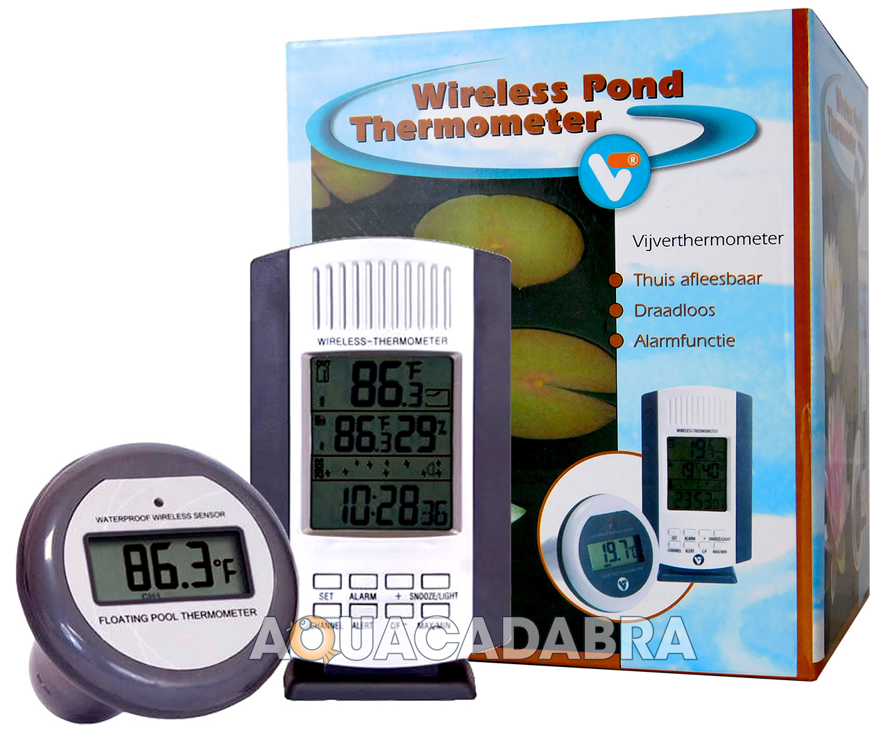 Velda wireless pond thermometer battery digital garden koi for Koi pond temperature