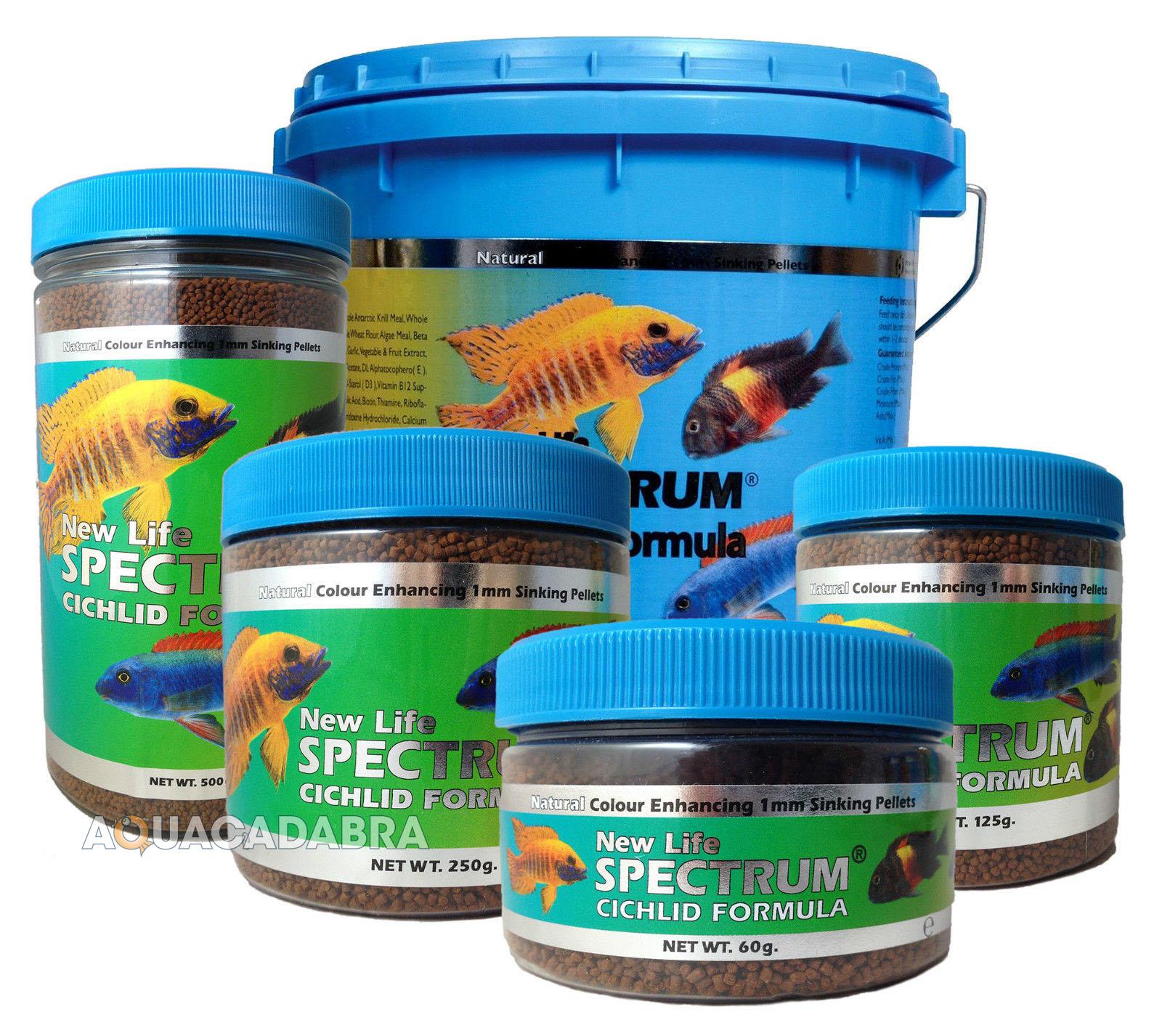 New life spectrum cichlid formula fish food 1mm sinking for Cichlid fish food
