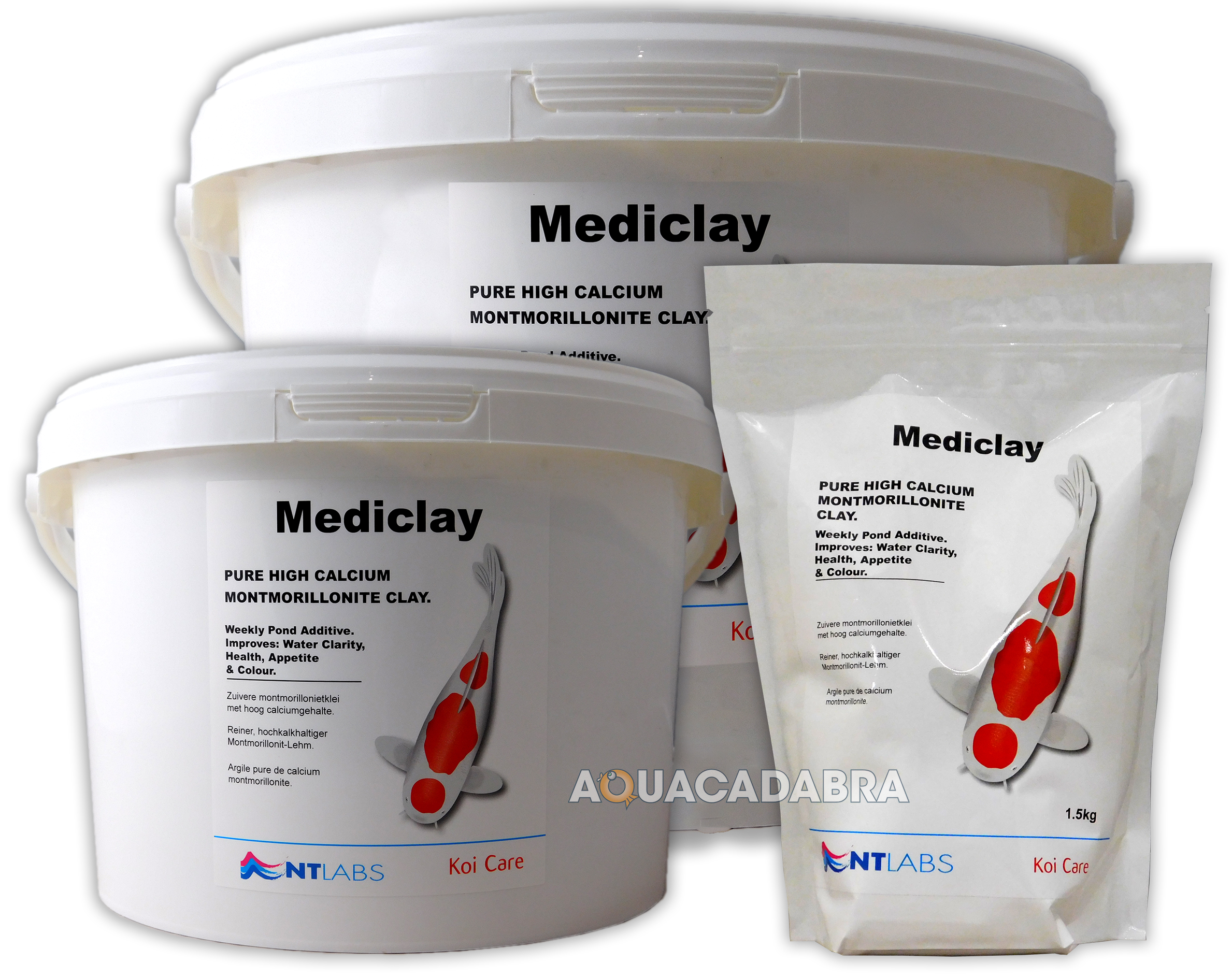 Nt labs mediclay 1 5kg 5kg 20kg montmorillonite clay algae for Koi pond traduzione