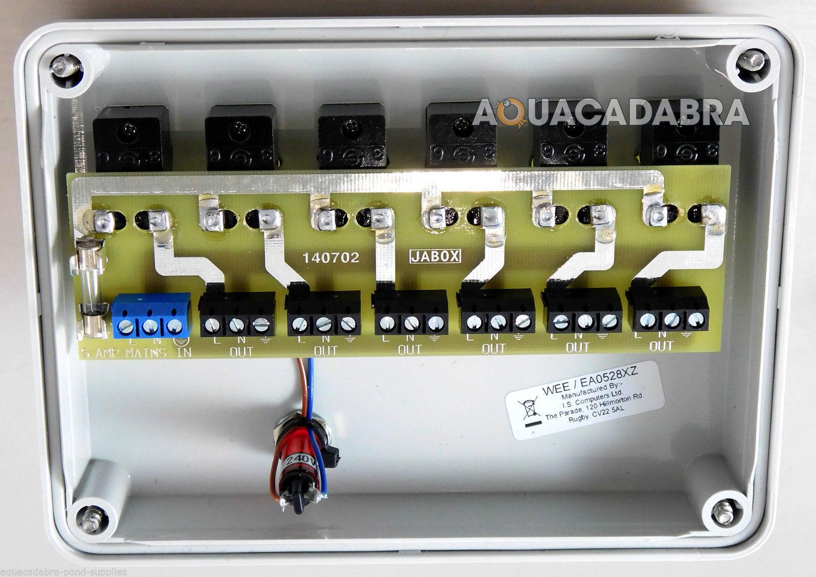 Garden Pond Switch Box 3 4 5 6 Way Outdoor Socket