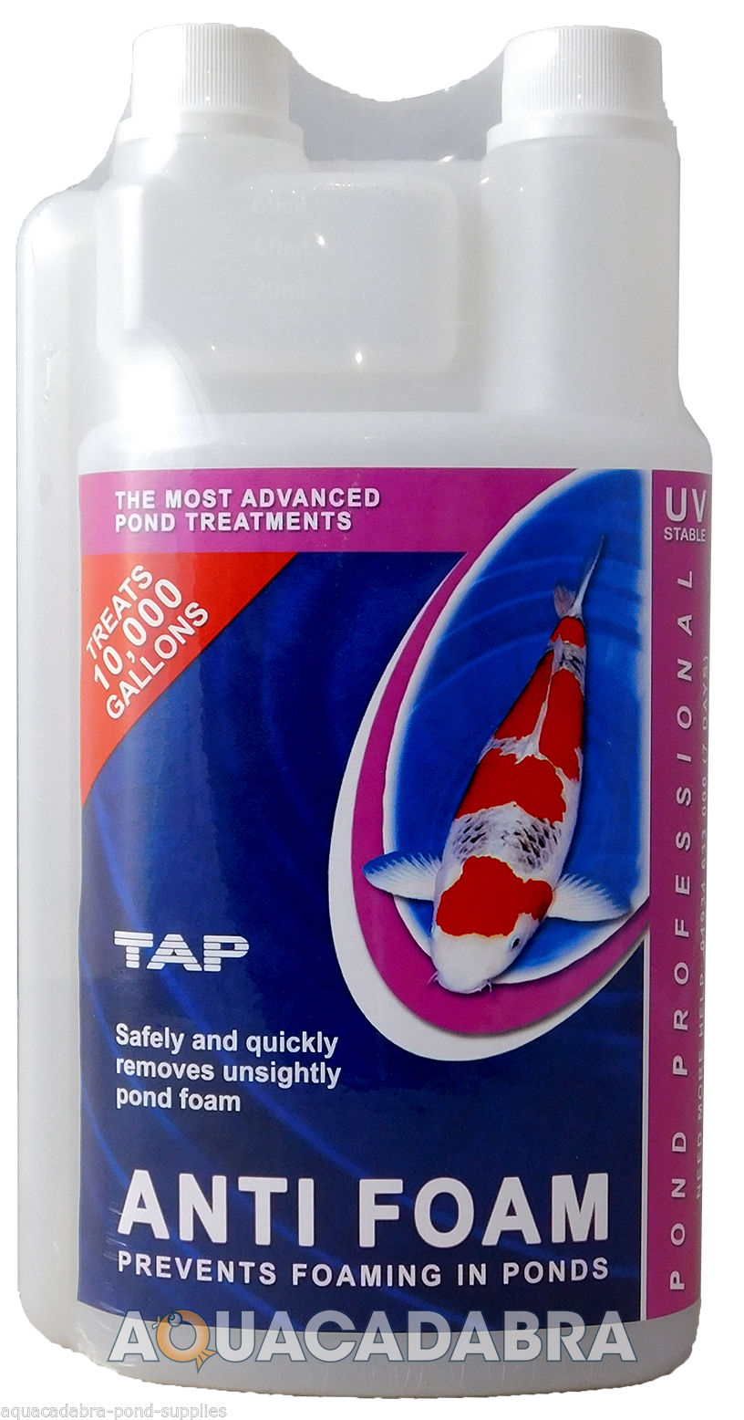 Tap pond professional anti foam remover safe harmless for Foam in koi pond
